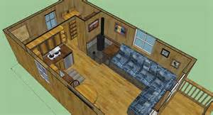 12x24 cabin floor plans sweatsville 12 x 24 lofted barn cabin in sketchup