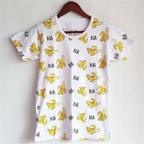 Kaos Singlet Motif Pisang jual kaos banana motif pisang di lapak model baju modernku
