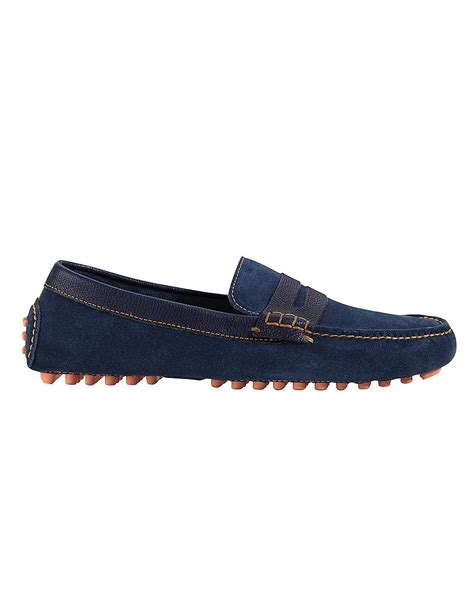 suede cole haan loafers cole haan air grant suede loafers in blue for