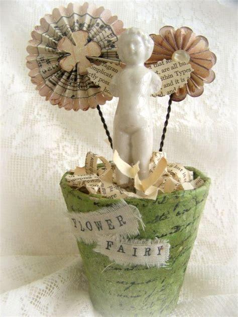 Handmade Flower Pots - handmade rosette flower pot vintage flower