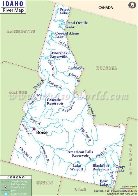 map of usa idaho idaho rivers map rivers in idaho