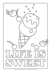 Sundae Coloring Pages sketch template