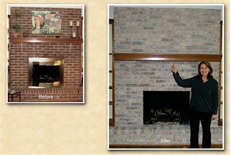 refinish brick fireplace wheaton il fireplace brick staining painting