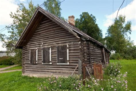 wooden house in russian stock photo colourbox