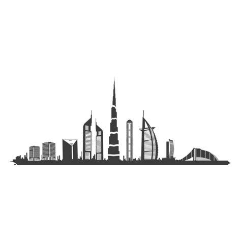 dubai skyline silhouette transparent png amp svg vector