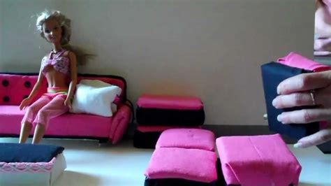 how to make a barbie doll couch how to make barbie doll a sofa easy youtube