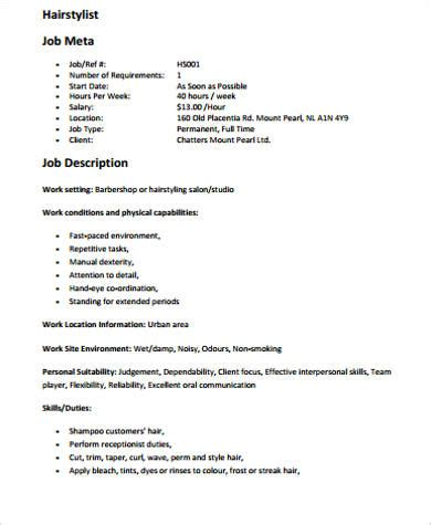 cosmetology resume sle sle hair stylist resume 28 images 28 wardrobe stylist