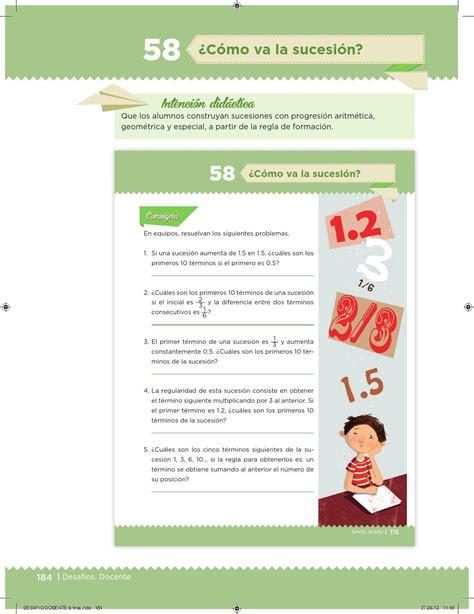 matematicas 6 grado contestado el equipo de caminata desaf 237 os docente 6 176 primaria by escuelas de tiempo
