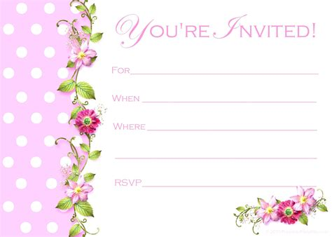 invitation card template birthday invitation card template birthday invitation