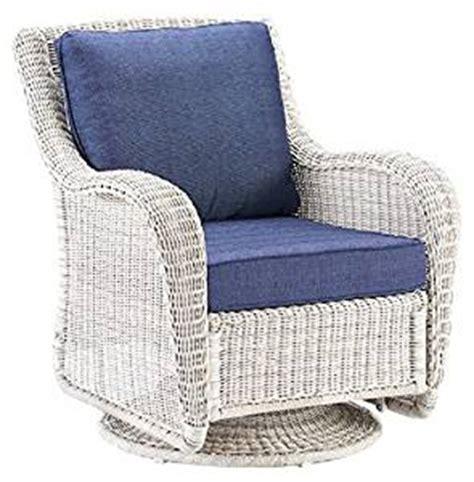 white wicker glider chair wicker swivel glider presidio patio outdoor