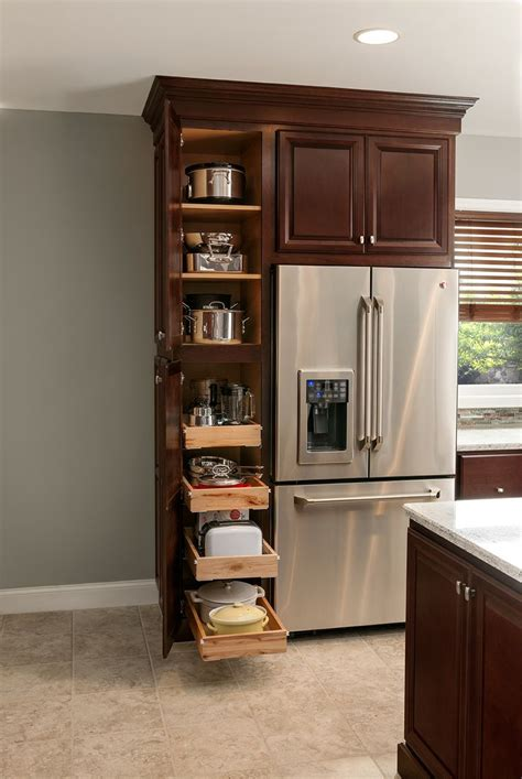 Kitchen Cabinet Storage by Utility Cabinet With Roll Out Trays Shelves Are Great