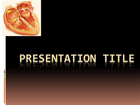 cardiology powerpoint template free download free