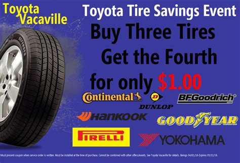 Toyota Tire Savings Event Toyota Tire Savings Event In Vacaville Ca