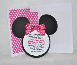 theme s minnie mouse birthday invitation inspired