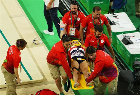french gymnast suffers horrific leg injury after vault french gymnast suffers horrific leg injury after vault