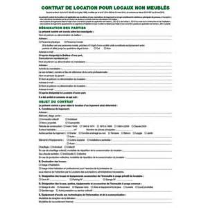 modele contrat de location non meublee document