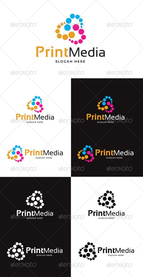 print media logo template by yakdesigner graphicriver