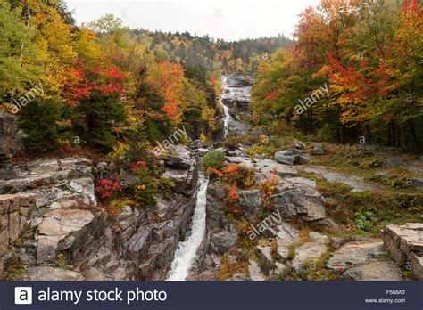 silver cascade nh new england waterfalls silver cascade falls in autumn a waterfall in crawford