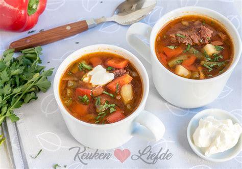 keuken liefde recepten goulashsoep keuken liefde