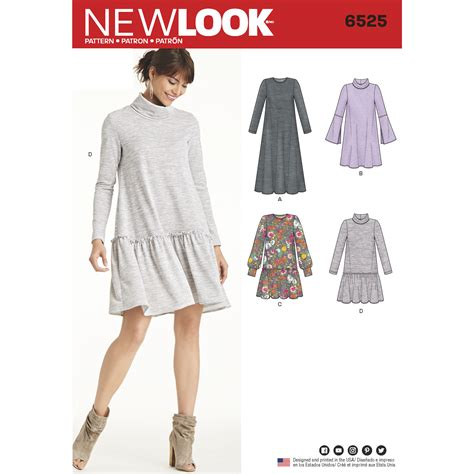 knitted dress new look new look 6525 womens dress knit sewing pattern