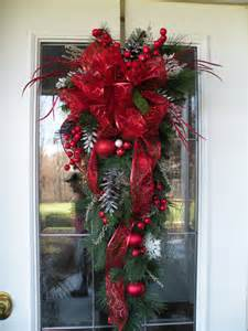 christmas door swag christmas teardrop swag by