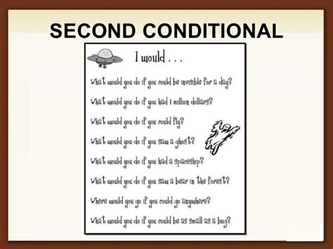 The Second Condition second conditional diller conditional