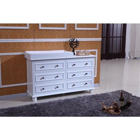 Change Table Chest Of Drawers Beata Chest Of 6 Drawers W Change Table Top White Buy Changing Tables