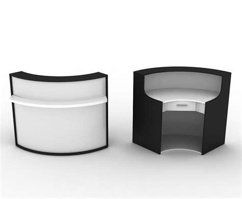 Quality Reception Desks Curvy High Quality Reception Desk With Lockable Drawer In Black Brown Lightbrown Ebay