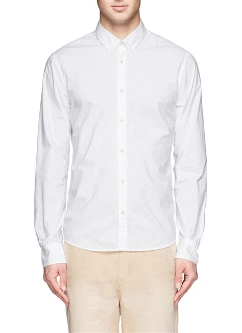 Collar Shirt With Bow Tie Blue scotch soda bow tie poplin collar shirt in white for lyst