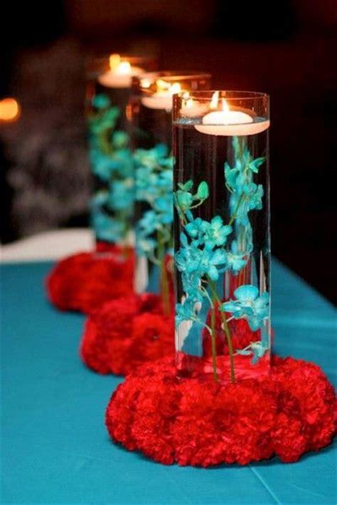 simple centerpiece ideas simple colourful centerpiece wedding teal aqua
