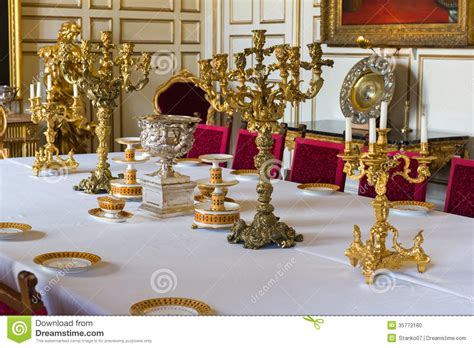 Free Dining Room Table Plans royal dinner table stock photo image 35772180