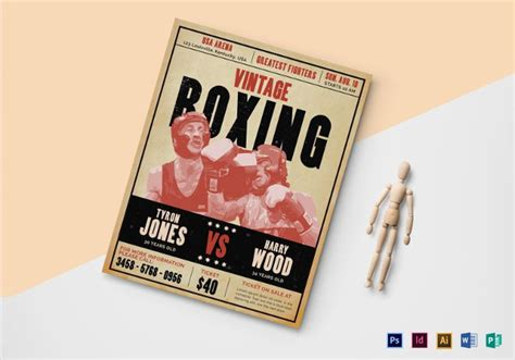 vintage boxing poster template 25 boxing flyer designs psd vector eps jpg