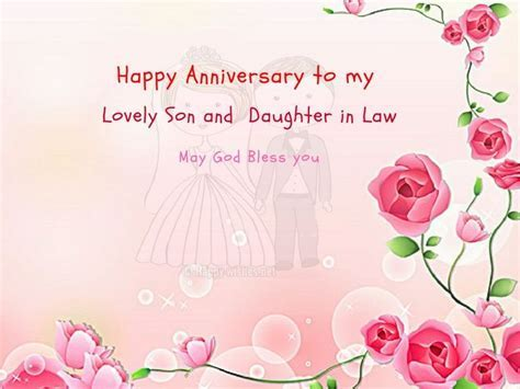 Anniversary Wishes For Son and Daughter in Law   Mr and
