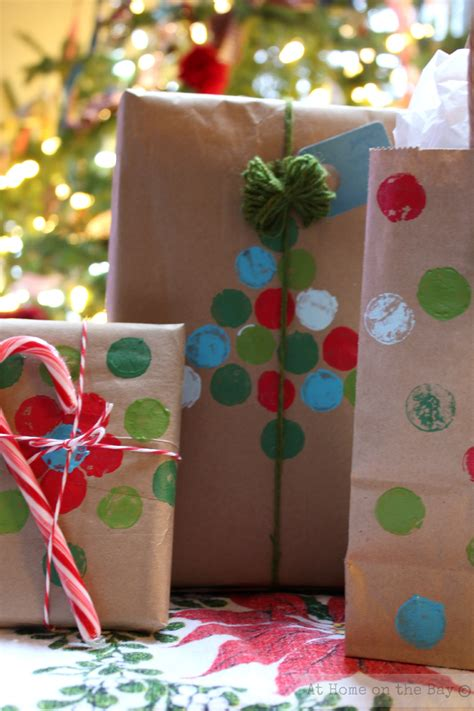Paper Bag Ideas - recycled paper bag gift wrap ideas