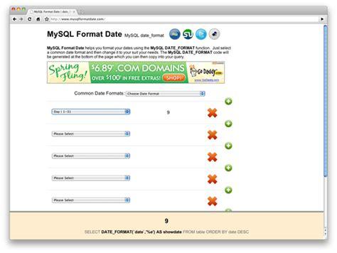 javascript format date to mysql web开发者必须收藏的十大网站 知识库 博客园