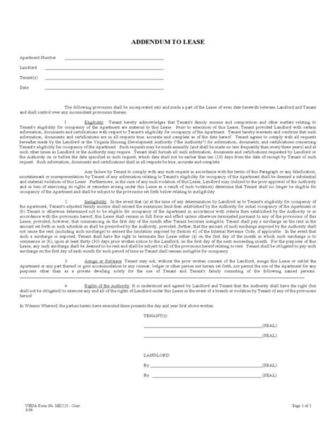 Lease Addendum Form 2 Free Templates In Pdf Word Excel Download Lease Addendum Template Word