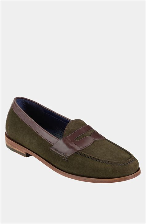 cole haan suede loafers cole haan pinch loafer in green for forest