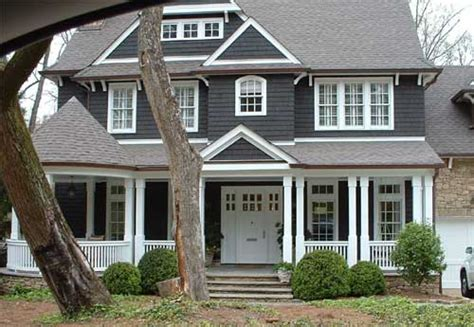 Gauntlet Gray Sherwin Williams dark grey house white trim house ideas exterior house