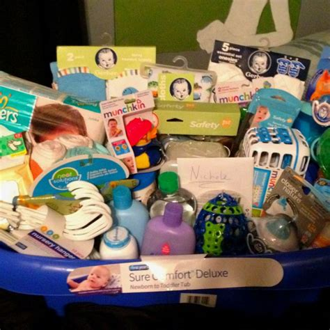 What To Put In A Baby Shower Gift Basket by Baby Shower Gift Basket But Put Everything In A Baby Tub