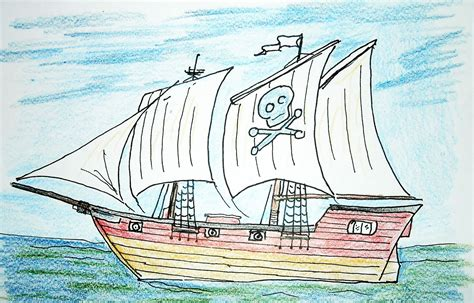 pirate boat drawing easy how to draw worksheets for the young artist how to draw a