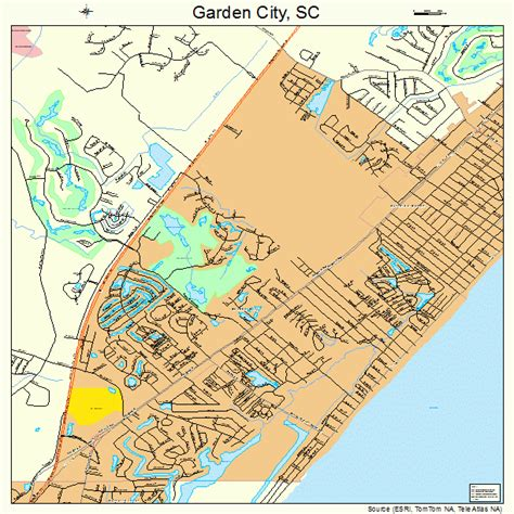 Garden City Sc by Garden City South Carolina Map 4528455