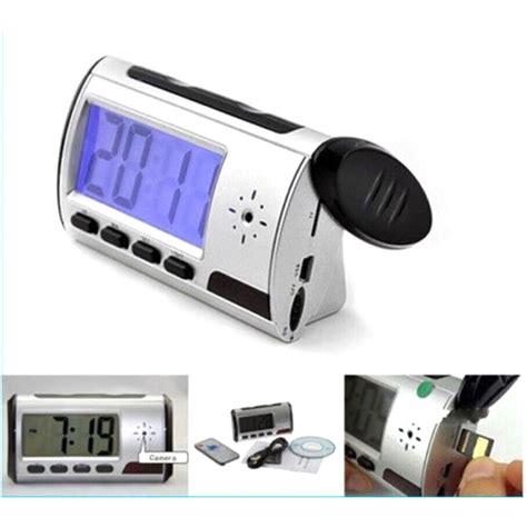 kamera pengintai jam digital 720p motion sensor dengan