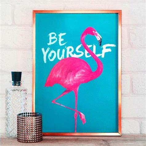 Livaza Wall Decor Be Yourself kitsch flamingo home decor trend homegirl