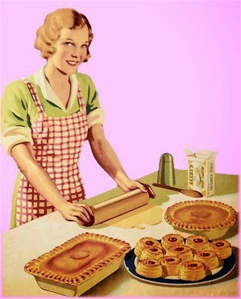 Pink Retro Kitchen Collection apron history apple picking vintage style
