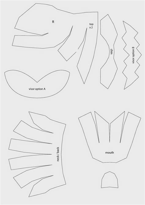 helmet template dali lomo power rangers helmet diy with template
