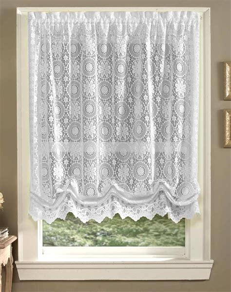 white balloon curtains white balloon curtains white lace balloon shade jacquard