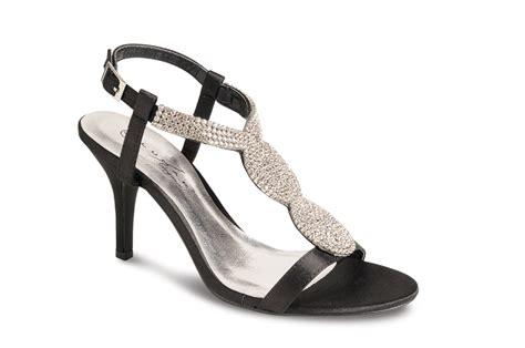 lunar shoes flr146 black diamante sandals evening