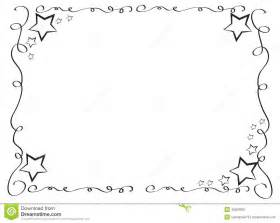 decorative frame border with stars stock illustration
