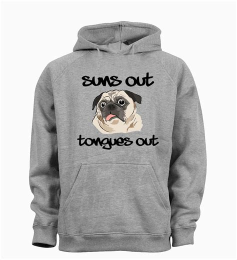 pug hoodie pug unisex sons out tongues out hoodie available in 4 colours i pugs