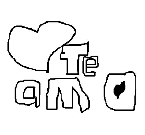 imagenes para dibujar te amo dibujo de te amo iv para colorear dibujos net